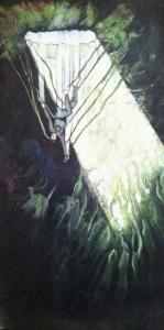 Chute dans le monde souterrain, par Albert Borgel